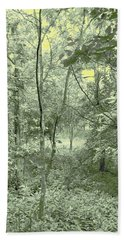 Light Forest Scene Bath Towel