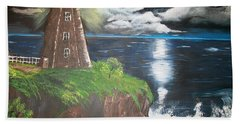 Hand Towel featuring the painting Light Of The Moon by Sharon Duguay