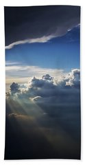 Light Shafts From Thunderstorm II Hand Towel