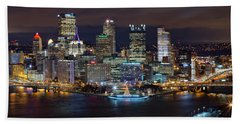 Light Up Night Pittsburgh 3 Bath Towel