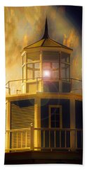 Lighthouse  Hand Towel by Aaron Berg