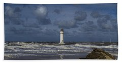 lighthouse at New Brighton Bath Towel
