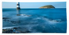 Lighthouse At Penmon Point Hand Towel