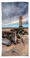 Lighthouse At Talacre  Hand Towel