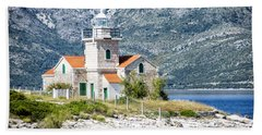 Sucuraj Lighthouse In Croatia 1 Hand Towel