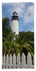 A Sailoirs Guide On The Florida Keys Hand Towel by Christiane Schulze Art And Photography