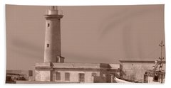 Lighthouse Marsala Hand Towel