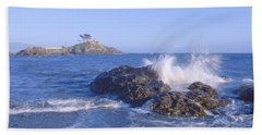 Lighthouse Off Front Street, Crescent Hand Towel