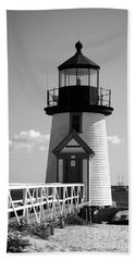 Lighthouse On Nantucket Bw Hand Towel