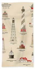 Lighthouses Of The East Coast Bath Towel