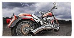 Lightning Fast - Screamin' Eagle Harley Hand Towel by Gill Billington