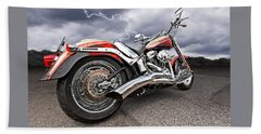 Lightning Fast - Screamin' Eagle Harley Bath Towel