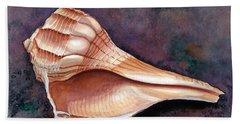 Lightning Whelk Hand Towel by Barbara Jewell