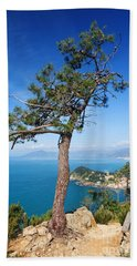 Hand Towel featuring the photograph Liguria - Tigullio Gulf by Antonio Scarpi