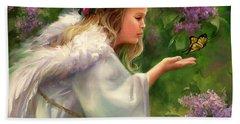 Lilac Angel Hand Towel