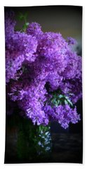 Lilac Bouquet Hand Towel by Kay Novy