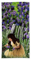 Bath Towel featuring the painting Lillian's Lilacs by Jennifer Lake