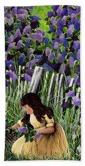 Lillian's Lilacs Bath Towel by Jennifer Lake