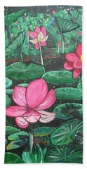 Lillies Hand Towel