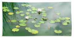 Hand Towel featuring the photograph Lilly Pads by Erika Weber