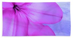 Lily - Digital Art Bath Towel by Robyn King