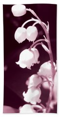 Lily Of The Valley Hand Towel by Eva Csilla Horvath