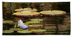 Hand Towel featuring the photograph Lily Pad by Kathy Churchman