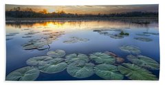 Lily Pads In The Glades Bath Towel