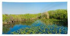 Lily Pads In The Lake, Anhinga Trail Hand Towel