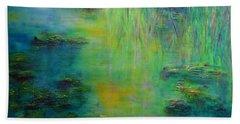 Lily Pond Tribute To Monet Bath Towel