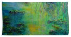 Lily Pond Tribute To Monet Bath Towel