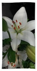 Lily White Hand Towel