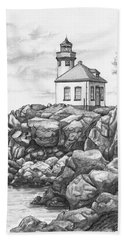 Lime Kiln Lighthouse Bath Towel