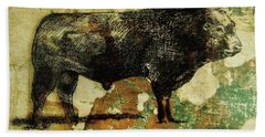 French Limousine Bull 11 Bath Towel by Larry Campbell