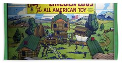 Lincoln Logs The American Toy Bath Towel