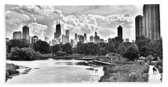 Lincoln Park Black And White Hand Towel