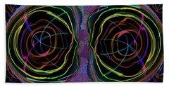Line Art Abstract  Eyes Alien Artistic Deco  Bath Towel