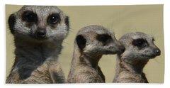 Line Dancing Meerkats Bath Towel