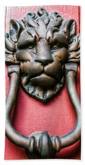 Lion Head Door Knocker Hand Towel