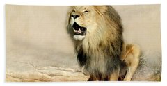 Lion Hand Towel by Heike Hultsch