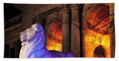 Lion Nyc Public Library Bath Towel