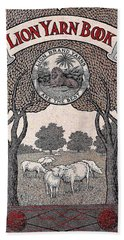 Antique Lion Yarn Book Hand Towel by Peter Gumaer Ogden