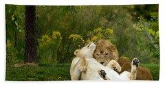 Lions In Love Bath Towel