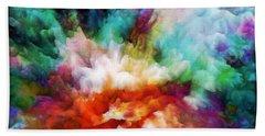 Bath Towel featuring the painting Liquid Colors - Original by Lilia D