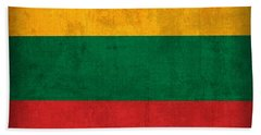 Lithuania Flag Vintage Distressed Finish Bath Towel