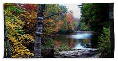 Little Androscoggin River Hand Towel by Mike Breau