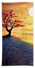 Little Autumn Tree Hand Towel by Danielle R T Haney