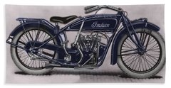 Little Blue Indian 2 Hand Towel
