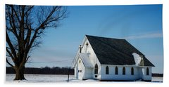 Little Church On The Prairie Bath Towel