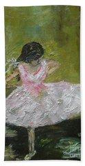 Little Dansarina Hand Towel by Reina Resto
